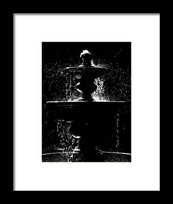 Fountain Framed Print featuring the photograph Memorial Fountain H C by David T Wilkinson