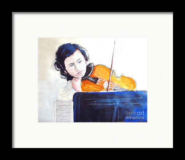 Contemporary Framed Print featuring the painting Memories by Ali Hammoud