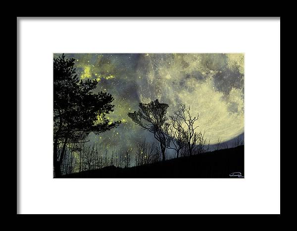 Night Framed Print featuring the painting Memories by Emma Alvarez