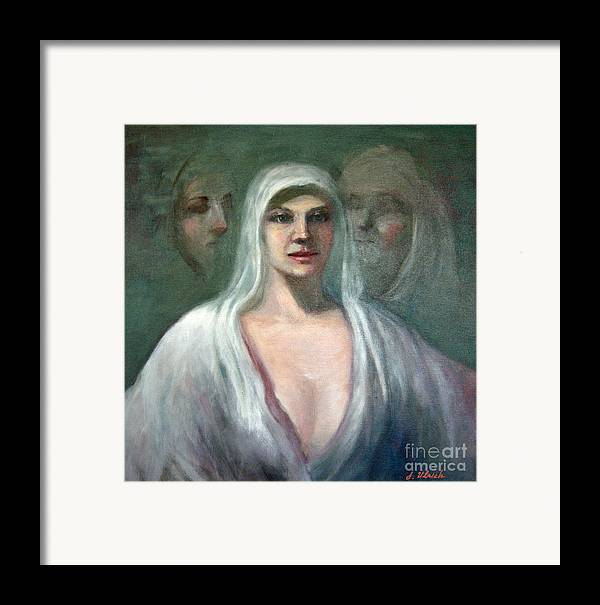 Painting Framed Print featuring the painting Memories by Jeannette Ulrich