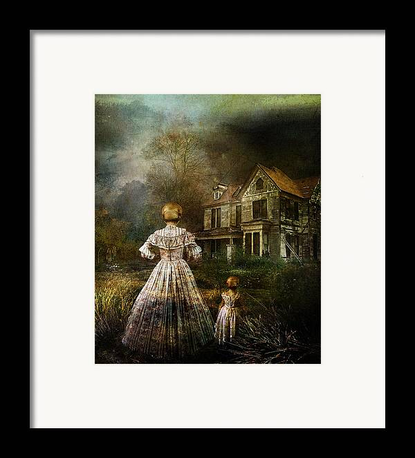 Ghostly Framed Print featuring the digital art Memories by Mary Hood