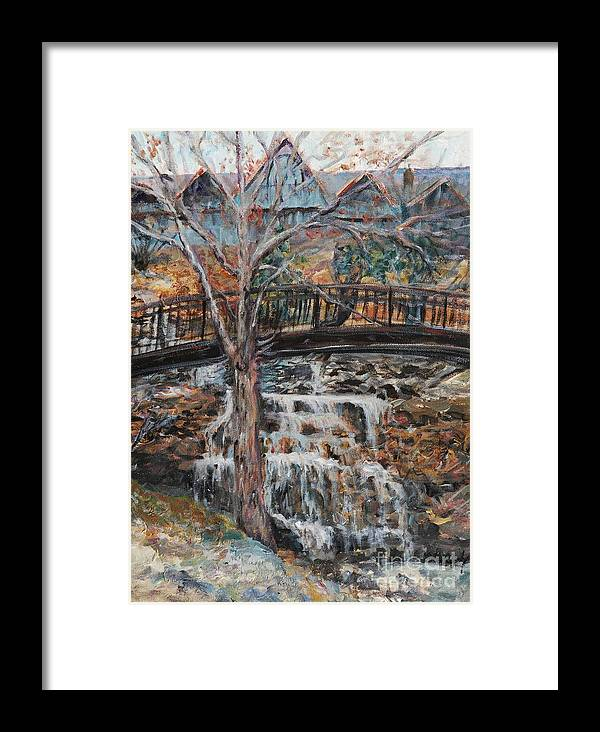 Waterfalls Framed Print featuring the painting Memories by Nadine Rippelmeyer