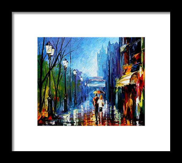 Afremov Framed Print featuring the painting Memories Of Paris by Leonid Afremov