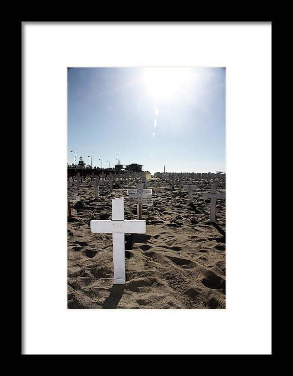 Scenic Framed Print featuring the photograph Memories On The Beach by Erin Rosenblum