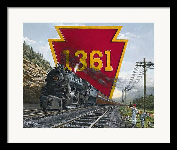 Trains Framed Print featuring the painting Memories Relived by David Mittner