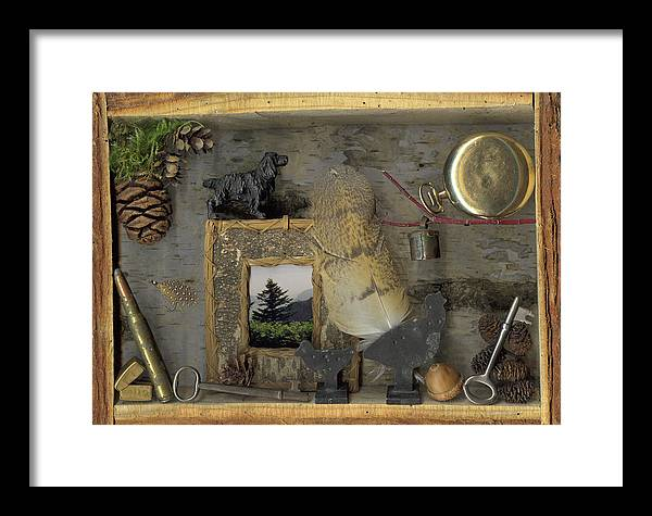 Antiques Framed Print featuring the mixed media Memories by Sandi F Hutchins