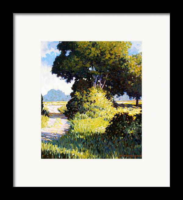 Landscape Framed Print featuring the painting Memory by Kevin Lawrence Leveque