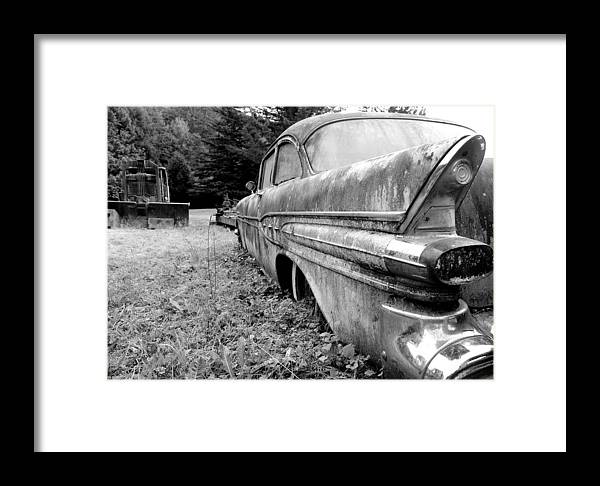 Black And White Framed Print featuring the photograph Memory Lane 2 by Jennifer Owen