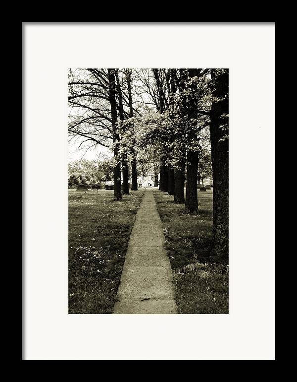 Dreamy Framed Print featuring the photograph Memory Lane by Carl Perry