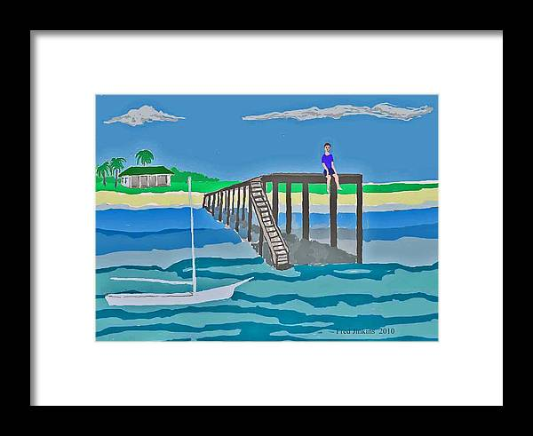 Sailboat Framed Print featuring the painting Memory Of Key West by Fred Jinkins