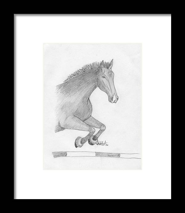 Jasper Framed Print featuring the drawing Memory Of The Jumper by Kim