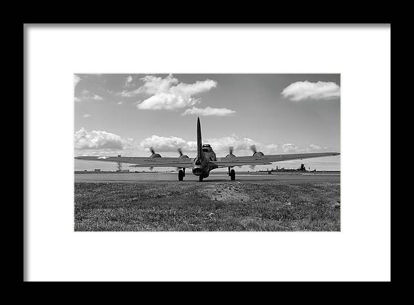 Memphis Belle Framed Print featuring the photograph Memphis Belle Bw by Peter Chilelli