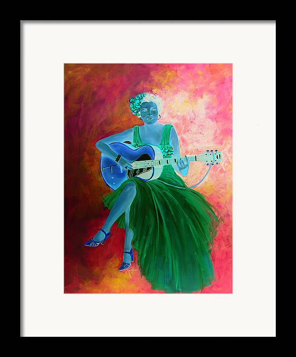 Blues Singers Framed Print featuring the painting Memphis Minnie by Kay Robinson