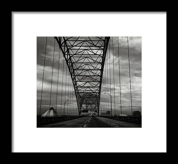 Bridge Framed Print featuring the photograph Memphis Two by John Nelson