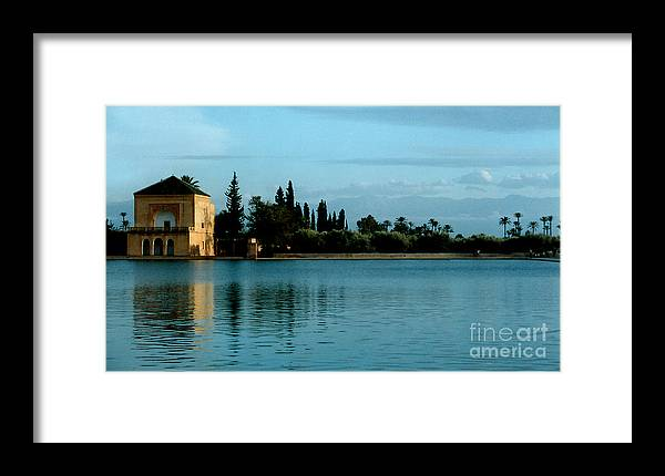 Impressionism Framed Print featuring the photograph Menara Gardens Of Morocco by Linda Parker
