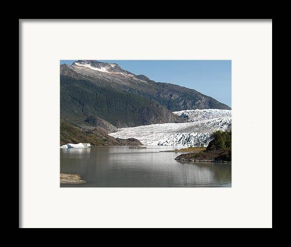 Mendenhall Framed Print featuring the photograph Mendenhall Glacier Alaska by Janet Hall