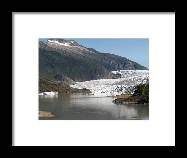 Mendenhall Framed Print featuring the photograph Mendenhall Glacier Alaska by Janet Hall
