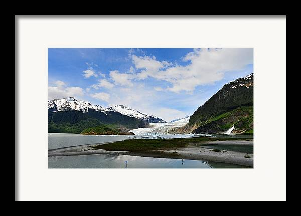 Mendenhall Framed Print featuring the photograph Mendenhall Glacier by Keith Gondron