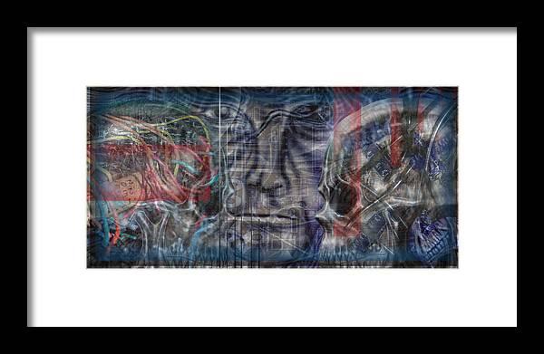 Skulls Framed Print featuring the digital art Mensrea by Leigh Odom
