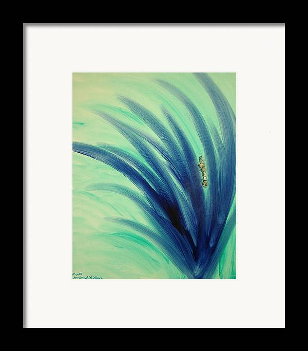 Abstract Framed Print featuring the mixed media Mer An Ah by Emerald GreenForest