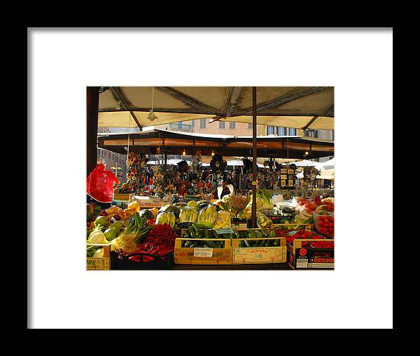 Framed Print featuring the photograph Mercato by Viviana Puello Villa