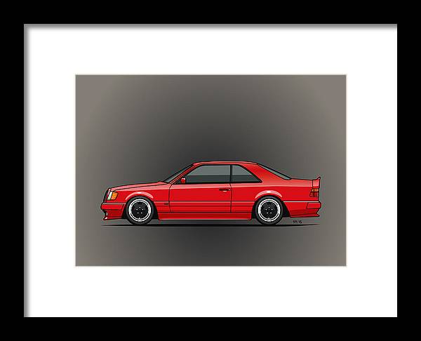 Mercedes W124 300e Red Amg Hammer Widebody Coupe Framed Print