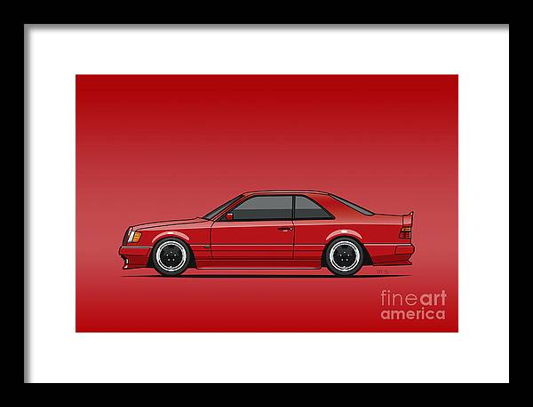 Mercedes W124 300E Red AMG Hammer Widebody Coupe Red by Tom Mayer II Monkey Crisis On Mars