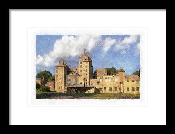 Digital Framed Print featuring the photograph Mercer Museum by Ron Alderfer