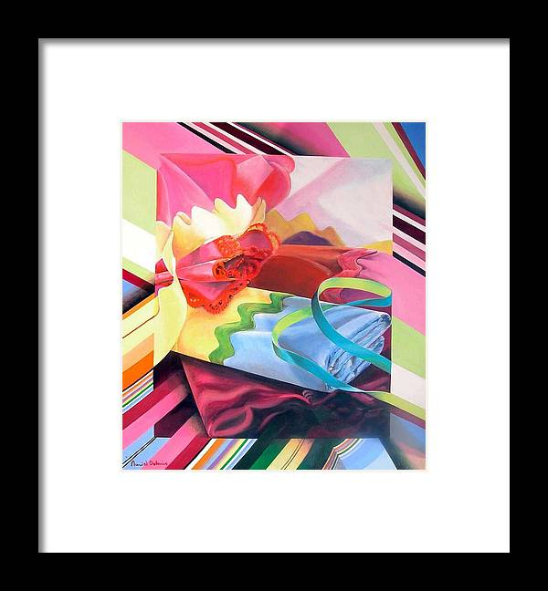 Still Life Framed Print featuring the painting Mercerie by Muriel Dolemieux