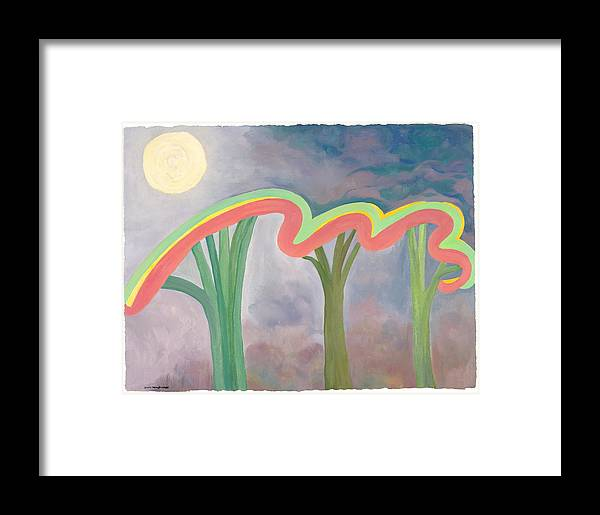 Mercy Framed Print featuring the painting Mercy Nights by Nancy Brockett