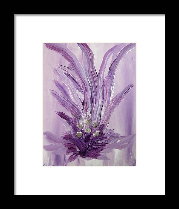 Abstract Framed Print featuring the mixed media Merl An Ah by Emerald GreenForest