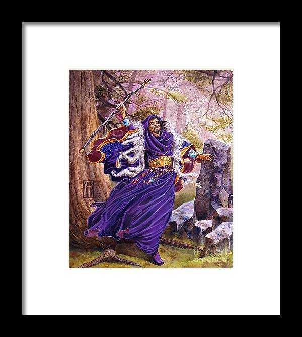 Artwork Framed Print featuring the painting Merlin by Melissa A Benson