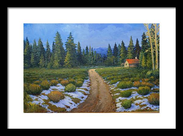 Landscape Framed Print featuring the painting Merories Take Me Home by Bob Adams