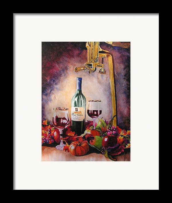 Wine Framed Print featuring the painting Merriment by Karen Stark