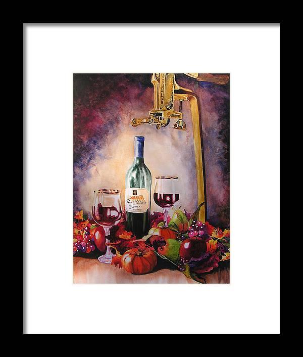 Wine Framed Print featuring the painting Merriment by Karen Stark