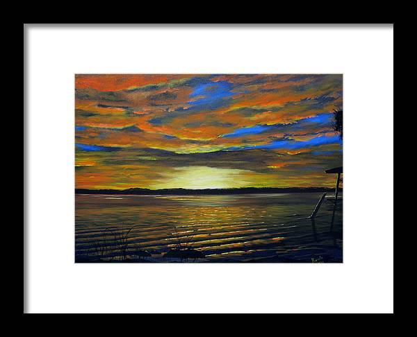 Sunset Framed Print featuring the painting Merritt Island Sunset by Bruce Reigle