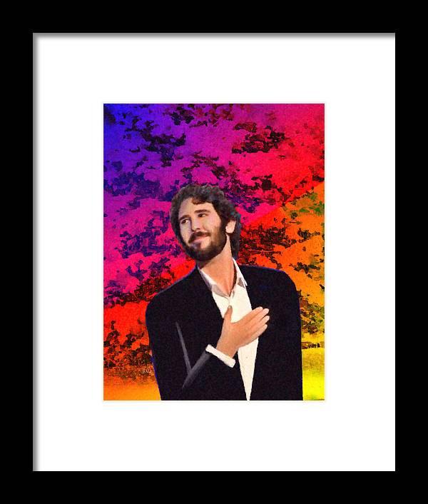 Josh Groban Christmas.Merry Christmas Josh Groban Framed Print