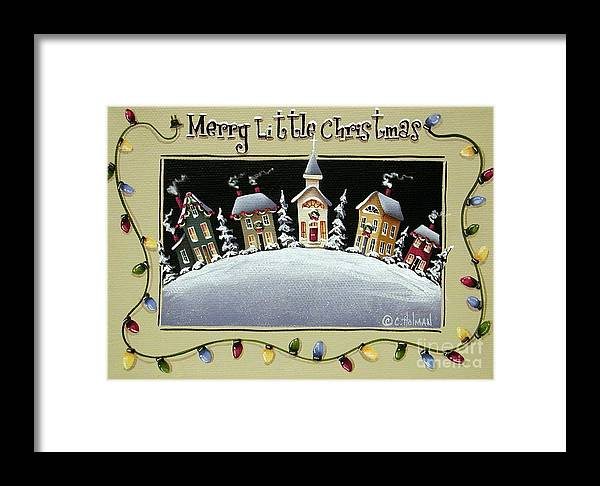 Art Framed Print featuring the painting Merry Little Christmas Hill by Catherine Holman