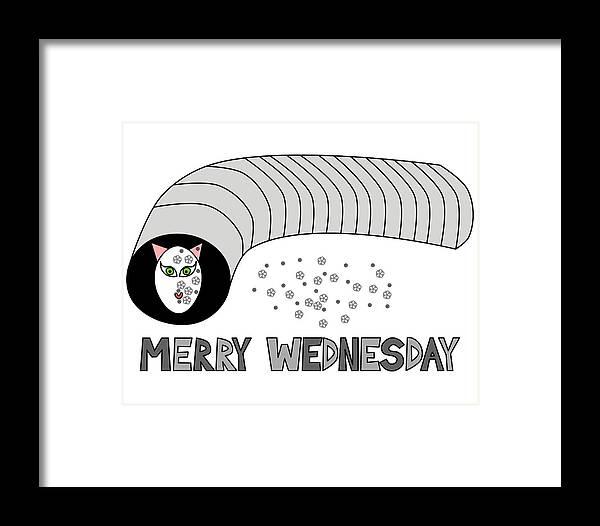 Merry Framed Print featuring the digital art Merry Wednesday by Lenka Rottova