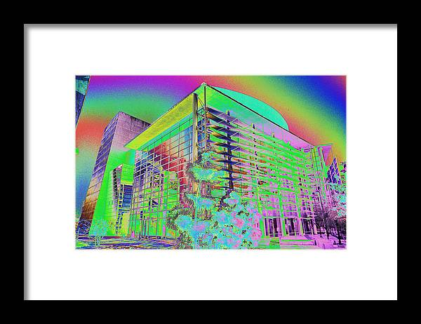 Psychedelic Framed Print featuring the photograph Mesa Art Center by Richard Henne
