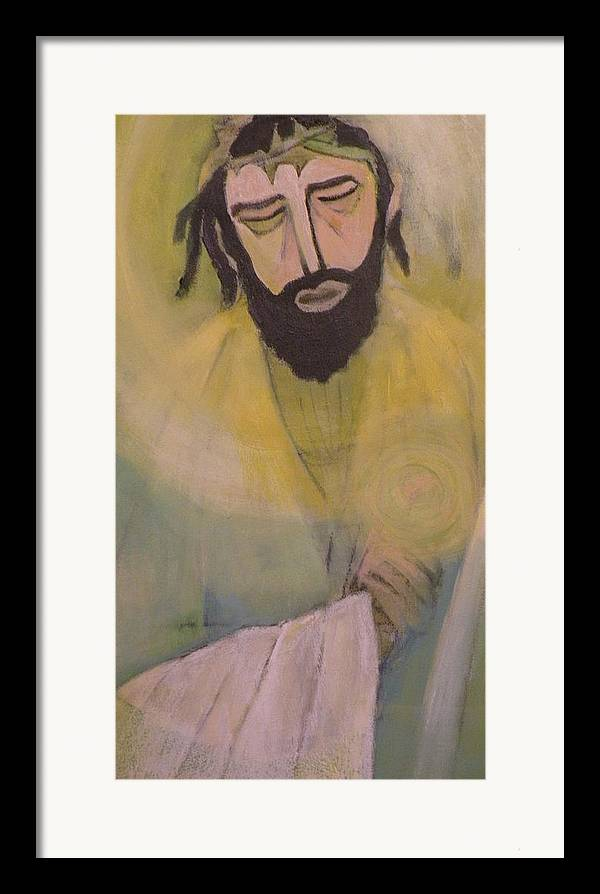 Portrait Framed Print featuring the painting Mesiah by Robert Daniels