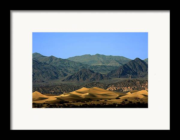 Death Valley National Park Framed Print featuring the photograph Mesquite Flat Sand Dunes - Death Valley National Park Ca Usa by Christine Till