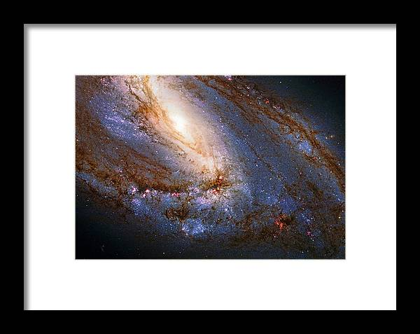 Messier 66 Framed Print featuring the photograph Messier 66 Galaxy Enhanced by Weston Westmoreland