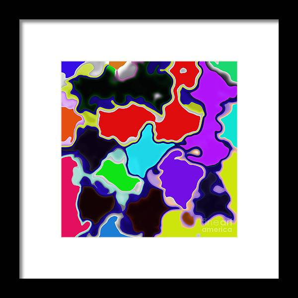 Unique Framed Print featuring the digital art Messy Thing by Susan Stevenson