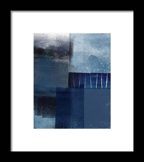 Blue Framed Print featuring the mixed media Mestro 1- Abstract Art by Linda Woods by Linda Woods