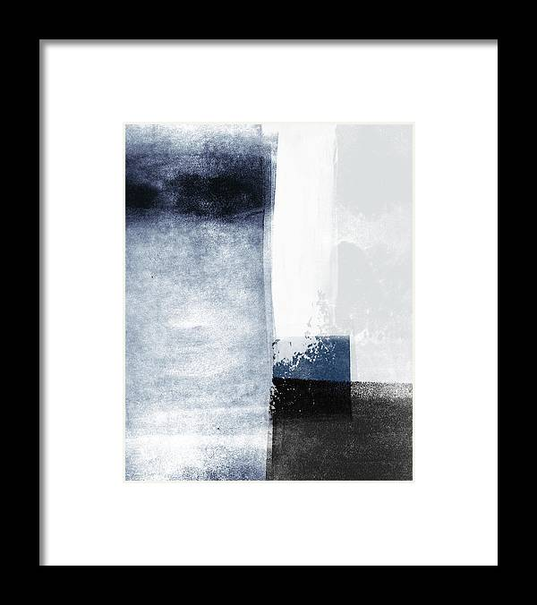 Blue Framed Print featuring the mixed media Mestro 3- Abstract Art by Linda Woods by Linda Woods