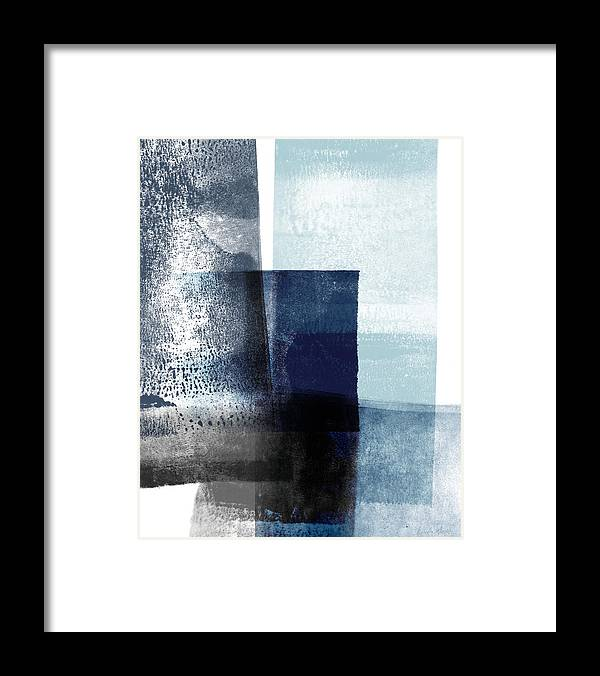 Blue Framed Print featuring the mixed media Mestro 4- Abstract Art by Linda Woods by Linda Woods