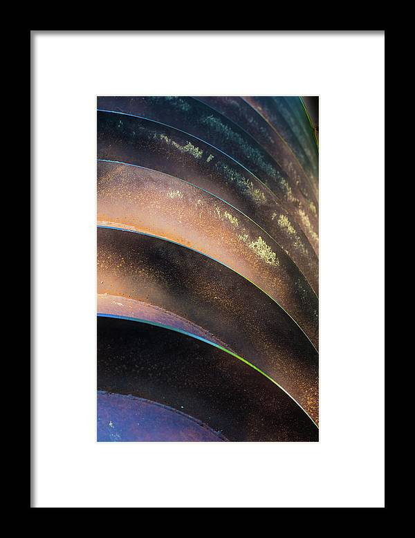 Metal Framed Print featuring the photograph Metal Spiral Right by Lea Rhea Photography