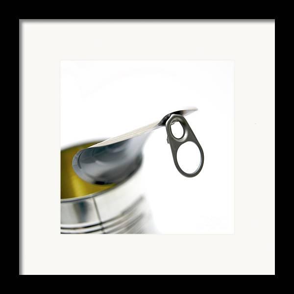 Aluminium Framed Print featuring the photograph Metallic Can by Bernard Jaubert