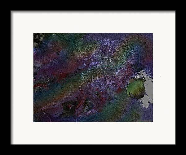 Digital Framed Print featuring the digital art Metallic Color by J P Lambert